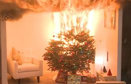 Kerstversiering erg brandgevaarlijk