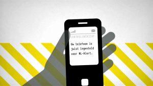 telefoon met nl alert boodschap