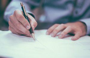 handtekening onder noodverordening